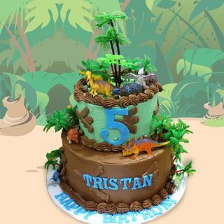 Dino Jungle Cake - Cake by MsTreatz