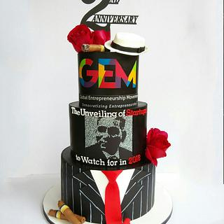 Gangster themed cake