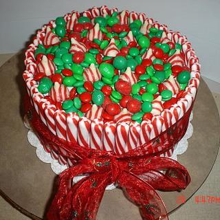 Christmas Candy Cane Cake - Cake by Dana