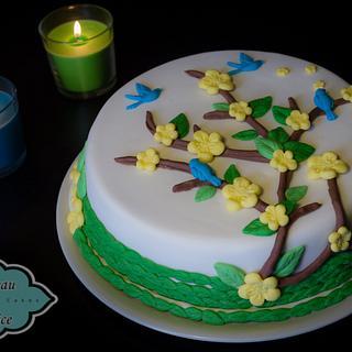 Sweet coconut cake