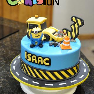 Minion Construction cake - Cake by Cakes For Fun