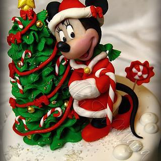 Minnie Christmas Birthday Cake!