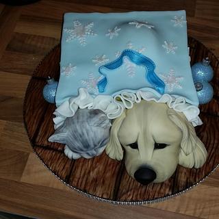 A Cute Christmas Present - Cake by Tinalou77