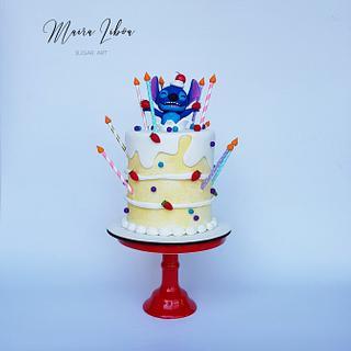 Stich - Cake by Maira Liboa