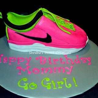 Neon Pink Running Shoe!