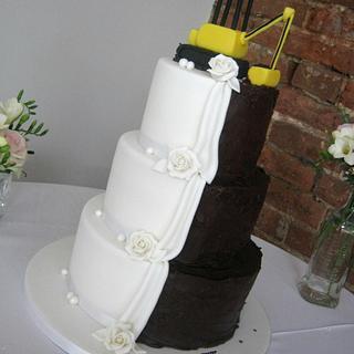 3 Tier Half n Half Wedding Cake