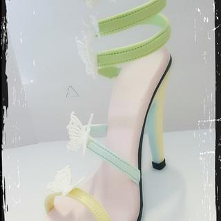 Butterfly heel - Cake by Corni
