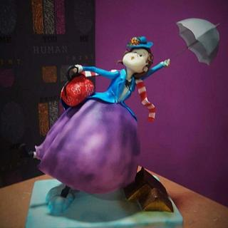 Mary Poppins (CakeFlix Collaboration) - Cake by Ángeles Serrano