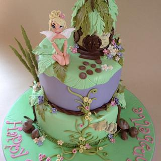 Tinkerbell magic garden cake - Cake by 3 Wishes Cake Co
