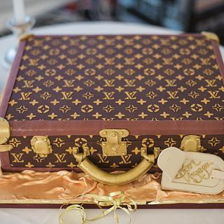 Louis Vuitton Suitcase wedding cake  - Cake by MJ'S Cakes