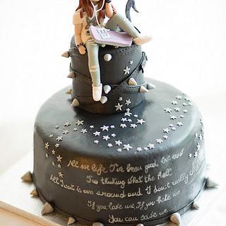 Black teenager cake