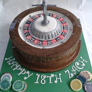 Roulette Wheel Cake with Chips