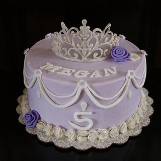 Princess cake with Royal Icing tiara - Cake by littlejo