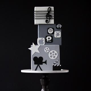 A square cake - music, film and some apps - Cake by Lydia ♥ vertortelt.de