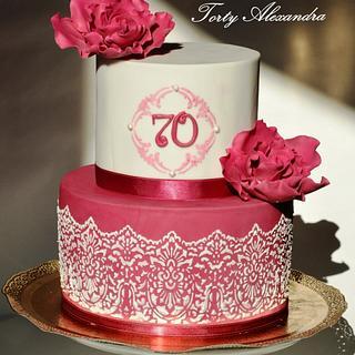 70 birthday cake for women