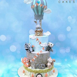 Cute woodland animals  cake