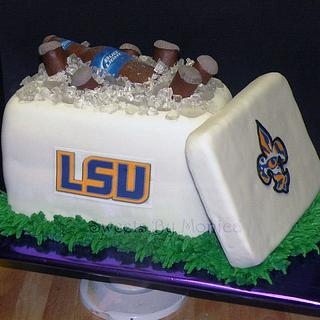 LSU & Beer . . .That's All - Cake by Sweets By Monica