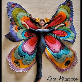 Lady Butterfly - Cake by Kate Plumcake