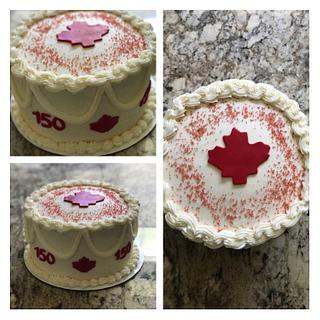 Canada Day Cake
