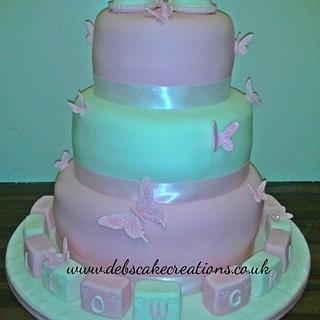 First Steps Tiered Cake