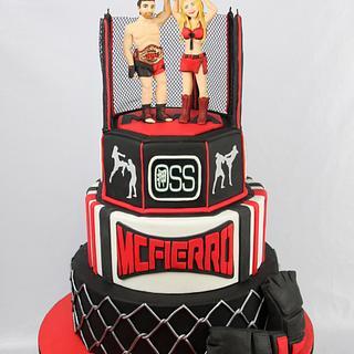 Kick boxing birthday cake