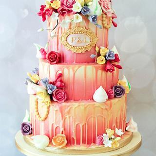 Wedding 'drip' Cake