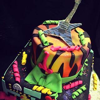 1st Birthday Cake 80's themed