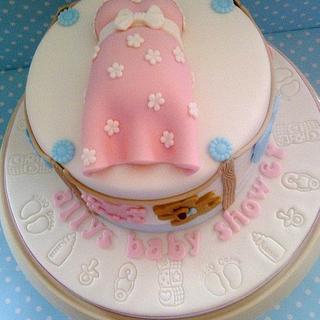 Baby Shower Cake - Cake by BellaButterflys