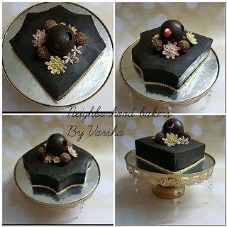 Dimond shaped Truffle cake  - Cake by Varsha Bhargava