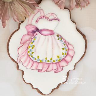 Vintage Apron Cookie 🎨🖌️🎊