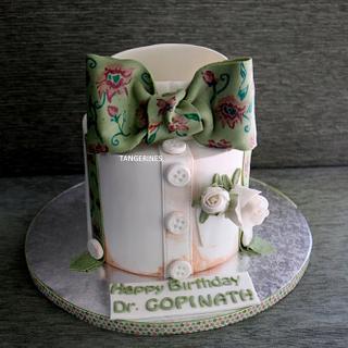 Handpainted shirt cake