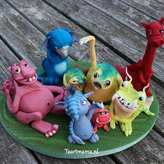 Funny monsters - Cake by Taartmama