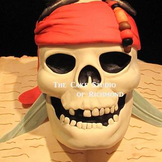 Pirates of the Caribbean cupcake tower