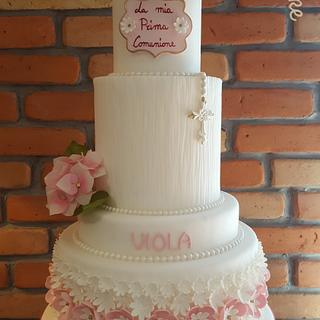 First Communion of Viola - Cake by Sonia Parente