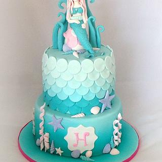 Harper's first birthday Mermaid cake