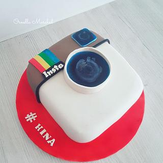 Instagram icon cake