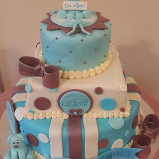 Baby Shower Cake for a boy - Cake by Rencia's Creations