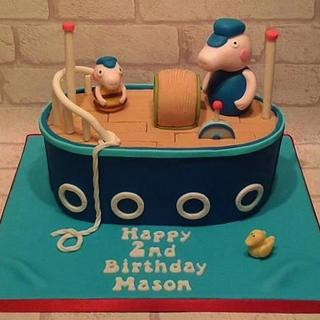 George Pig boat cake - Cake by Baked by Lisa
