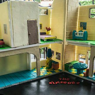 THE SIMPSONS LEGO CAKE