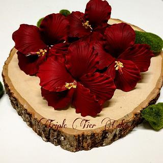 Hibiscus gumpast flowers