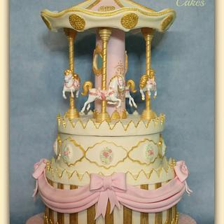 Vintage Carousel - Cake by Stef and Carla (Simple Wish Cakes)