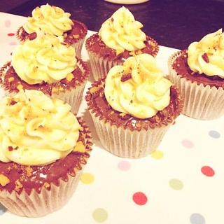 Chocolate and Toffee Cupcakes.