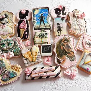 """""""Pretty Pink for Yasmine"""" collaboration cookies"""