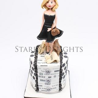 Fashionista- one designer cake
