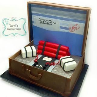 """Icing Smiles """"bomb"""" cake  - Cake by Lori Mahoney (Lori's Custom Cakes)"""