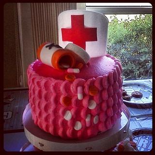 Nursing cake and cupcakes