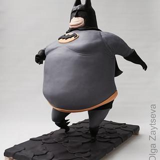 Fat Batman Cake.