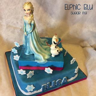 Frozen Cake  - Cake by ElphicBlu Sugar Ing