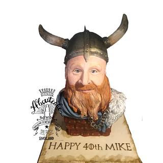 Viking head cake
