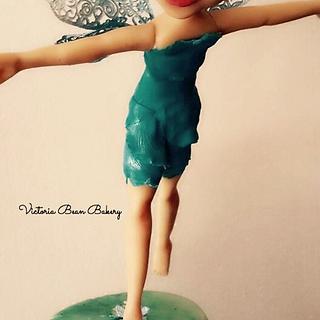 Blue....Water Fairie - Cake by VictoriaBean